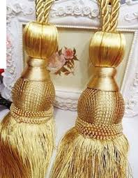 Gold Curtain Tassels Gold Curtain Tie Backs Beautiful Handmade Window Drapery