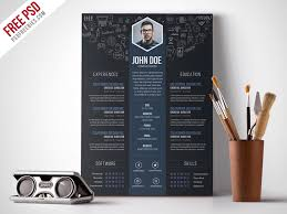 graphic design resume template free creative designer resume template psd psdfreebies