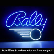 neon chambre boule de flipper jeu neon sign loisirs chambre artisanat mur