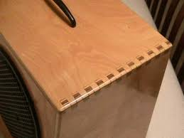 Different Wood Joints Pdf by Finger Joints In Speaker Box Furniture Joints Pinterest