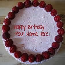 border birthday cake with name