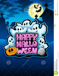 picture of happy halloween happy halloween sign with ghosts royalty free stock images image