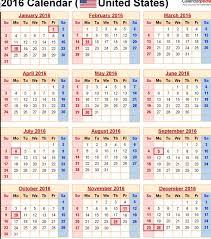 2016 calendar blank holidays usa calendar picture templates