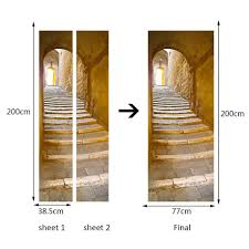 Passage Decor by 200x77cm 3d Creative Stairs Passage Pvc Self Adhesive Door Wall