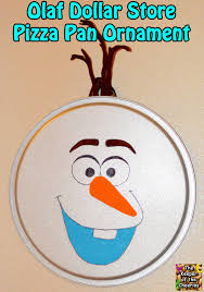 the keeper of the cheerios olaf dollar store pizza pan ornament