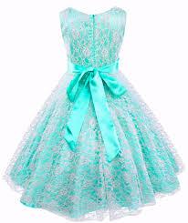 graduation dresses for kids turquoise floral lace dress