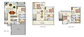 park west townhomes floor plans