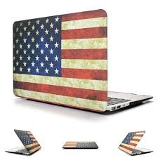 Flag Book Hard Case Protector With American Flag Style For Macbook Air 11 13