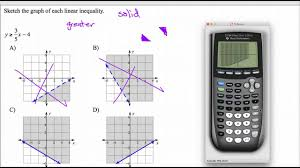 graphing linear inequalities on ti 84 stock software youtube