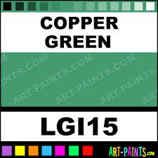 copper green liquid gouache paints lgi15 copper green paint
