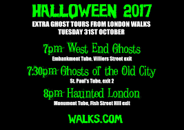 Halloween Ghost Tour by The Daily Constitutional From London Walks A Mini Tour Of