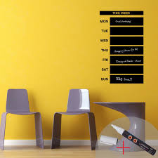 weekly calendar chalkboard wall decal 1 white liquid chalk cheap weekly calendar chalkboard wall decal 1 white liquid chalk cheap stickers abstract discount wall stickers madeco stickers
