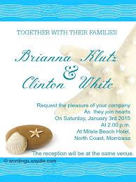 Wedding Invitation Examples Beach Wedding Invitation Wording Stephenanuno Com