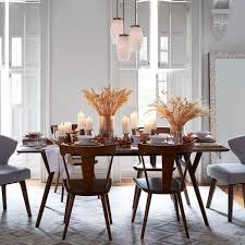 wood table simple and cozy west elm dining table design ashton