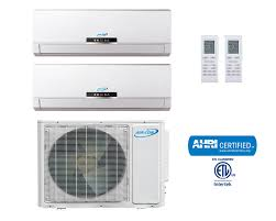 ductless mini split dual zone 18000 btu inverter 16 seer ductless mini split ac unit