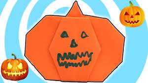 diy halloween paper origami pumpkin instructions youtube