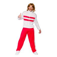 mens 80s retro tracksuit red fancy dress halloween costume