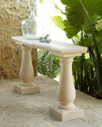 outdoor console table pedestal outdoor console table