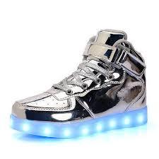 skechers led light up shoes silver skechers energy led kids boys girls sneaker light up top
