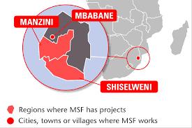 Swaziland Map Swaziland Médecins Sans Frontières Ireland