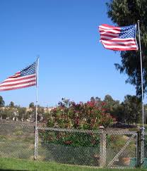 Flag Placement Fence Patio