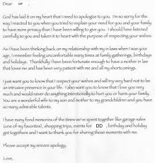 apology letter from mil need advise on how to interpret and