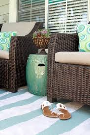 turquoise garden stool patio contemporary with aeonium armchair