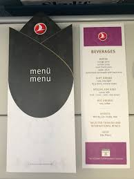 what kind food does turkish airlines serve in longhaul economy