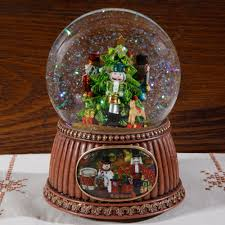 nutcrackers musical snow globe sturbridge yankee workshop