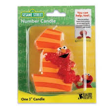1st birthday candle candles sesame elmo 1st birthday candle