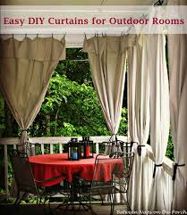 Sun Porch Curtains Drop Cloth Curtains For A Porch Add Privacy And Sun