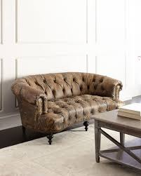 Old Hickory Tannery Carson Tufted Leather Sofa - Hickory leather sofa