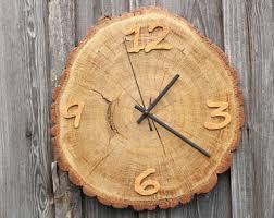 birch wood wall clock home décor live edge