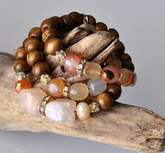 diy bracelet stones images Diy wood and stone stackable bead bracelets jewelry pinn png