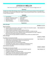 resume for office manager office manager resume template