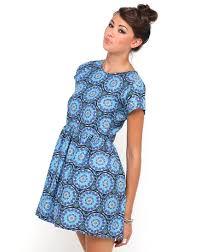 motel dresses motel babydoll dress in mandala print topshop asos house