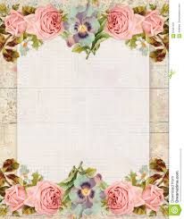 Chic Flower Printable Vintage Shabby Chic Style Floral Rose Stationary On Wood