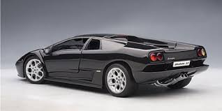 black lamborghini diablo lamborghini diablo diecast model 6 0 in black by auto in 1 18