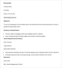images of sample resumes automobile resume template u2013 22 free word pdf documents download