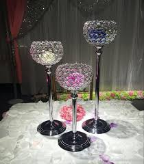 15cm diameter crystal ball candle holder wedding centerpiece
