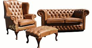 Leather Chesterfield Armchair Traditional Leather Chesterfield Sofas Centerfieldbar Com