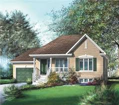 Small Country Home by This Small Country Plan Has Just Under 1000 Square Feet Of Area