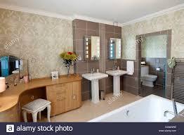 modern bathroom wetroom en suite dressing room stock photo
