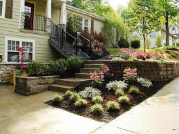 Front Landscaping Ideas by Front Yard Landscaping With Rocks Oudor Furniture Bricks Walkway
