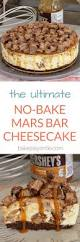 the ultimate no bake mars bar cheesecake bake play smile