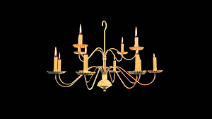 Chandelier Candle Chandelier With Burning Candles Free Royalty Footage Youtube