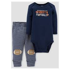 baby boys 2pc turkey and football set just one you made