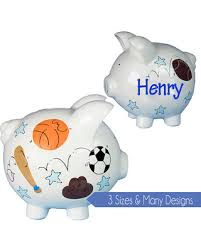 personalized silver piggy bank deals on boys piggy bank painted