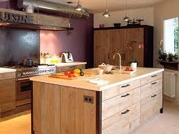 ilot cuisine bois fabriquer un ilot de cuisine en bois cuisine pas cher or