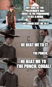 Walking Dead Rick Meme - 19 best carl reddit images on pinterest walking dead coral carl
